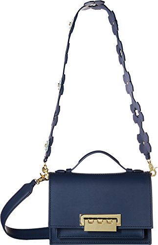 ZAC Zac Posen Earthette Accordion Shoulder-Solid W/Hex Floral Strap, - Leather Zac Posen Satchel