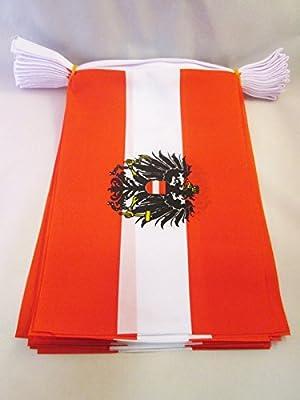 AZ FLAG Guirnalda 6 Metros 20 Banderas de Austria con Aguila ...