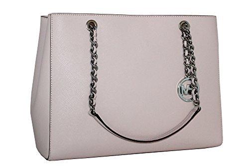 - MICHAEL Michael Kors Susannah Large Tote Satchel Leather Handbag BLOSSOM