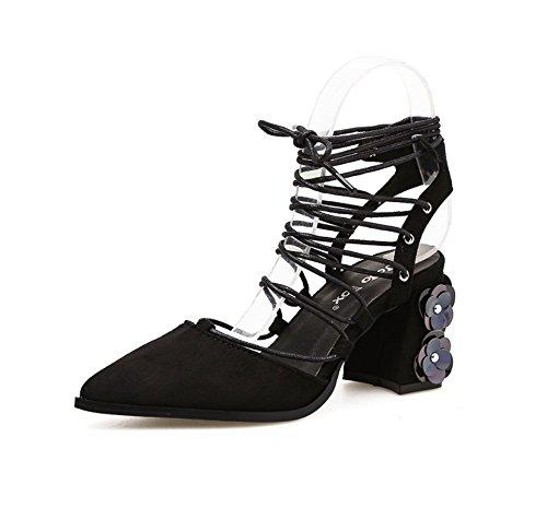 cn40 Us8 Chaussures Tmkoo 5 Talons Nouveaux Pointues De Mode Banquet Noir Brun Sandales Marron Hauts 5 Sexy 2018 eu39 Color Taille Travail uk6 8Tqfw8B