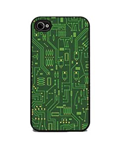 Computer Circuit Board - iPhone 4 or 4s Cover, Cell Phone Case - Black by icecream design