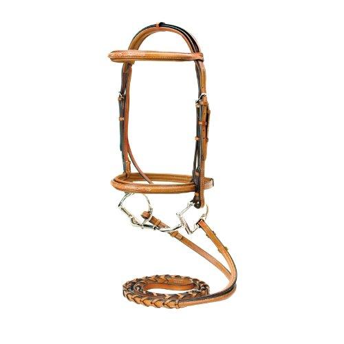 Silverleaf Fancy Square Raised Bridle w/Reins - Size:Pony Color:Golden Oak