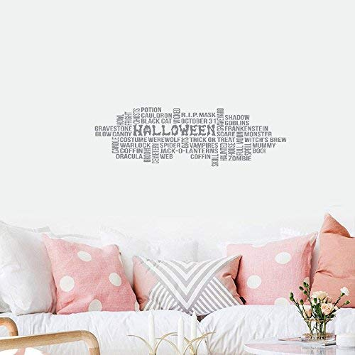48x24 Halloween Definition Graveyard Boo Spell Mummy Zombie Skull Scare Cauldron Cemetery Coffin Candle Witchs Brew Vampires Wicked Cat Mask Wall Decal Sticker Art Mural Home Decor Quote Living Room -