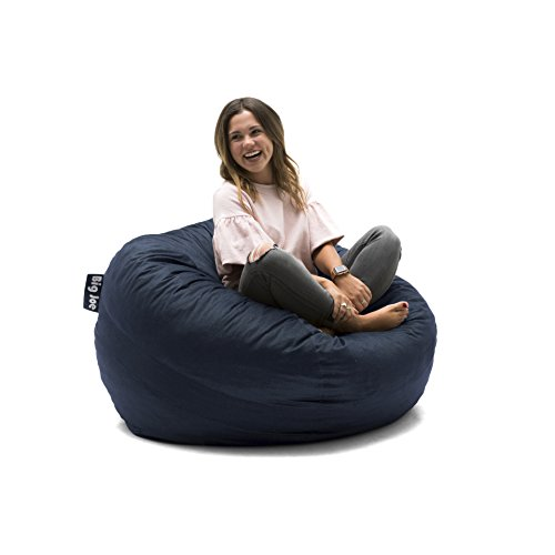 Big Joe 0020657 Fuf Foam Filled Bean Bag Chair, Medium, Cobalt Lenox