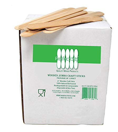 (Perfect Stix Craft WTD-1000 Jumbo Craft Sticks, 0.1