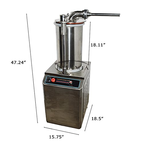 110V Hydraulic Automatic Sausage Filling Machine SF-260 Sausage Filler Sausage Stuffer