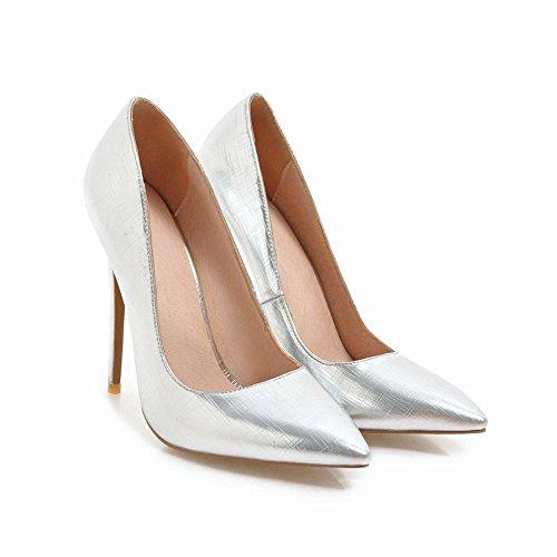 Elegante Scarpe Donna Heels MissSaSa High Argento 7xpgnU