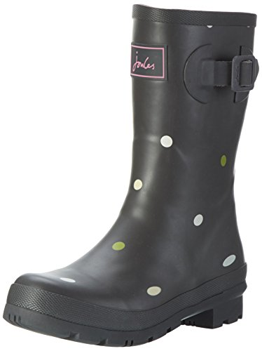 Joules Womens Molly Welly Rain Boot Grigio Kiki Spot