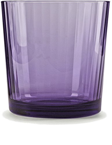 Circleware 44811 Spectrum Purple Whiskey, Set of 4, Kitchen Entertainment Dinnerware Drinking Glasses Glassware for Water, Juice, Beer and Bar Liquor Dining Decor Beverage Cups Gift, 13 oz, Plum