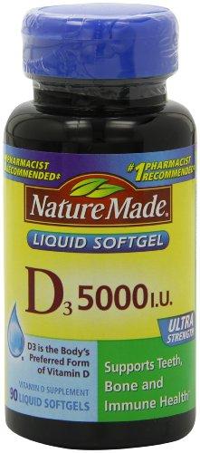 Nature Made Vitamin D-3, 5000IU, 90 Softgels (Nature Made Vitamin D3 5000 Iu compare prices)