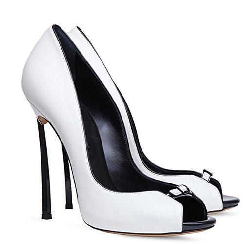 Zapatos uk 3 eur40uk7 Mujeres Nvxie Pie Fiesta Dedo White Estilete Tamaño Furtivamente Paseo Señoras Sandalias Moda Mirar Del 35 Eur Noche Nupcial Alto Tacón P1xRq1gw
