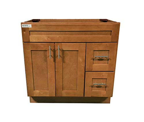 New Maple Shaker Single-sink Bathroom Vanity Base Cabinet 36