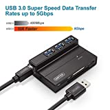 Unitek Flash Memory Card Reader, 3-Port USB 3.0 USB