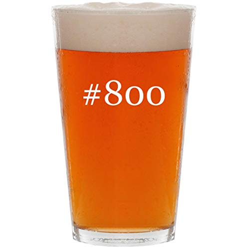 #800-16oz Hashtag All Purpose Pint Beer Glass