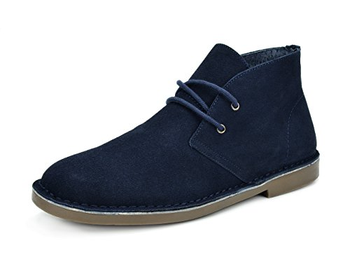 Bruno Marc Men's Francisco-High Navy Suede Leather Chukka Desert Oxford Ankle Boots - 7 M US