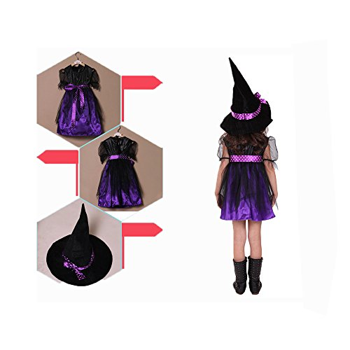 IDoser Halloween costumes, children's Cosplay costumes, witch shows, (Hoes Costumes)