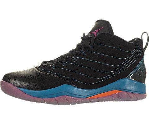 Jordan Boy's Velocity Big Kids Style, Black/Fusion Pink Trpcl Electric Orange, 5.5 - Kid Jordans Fusion