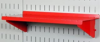product image for Wall Control Pegboard Shelf 6in Deep Pegboard Shelf Assembly for Wall Control Pegboard and Slotted Tool Board – Red