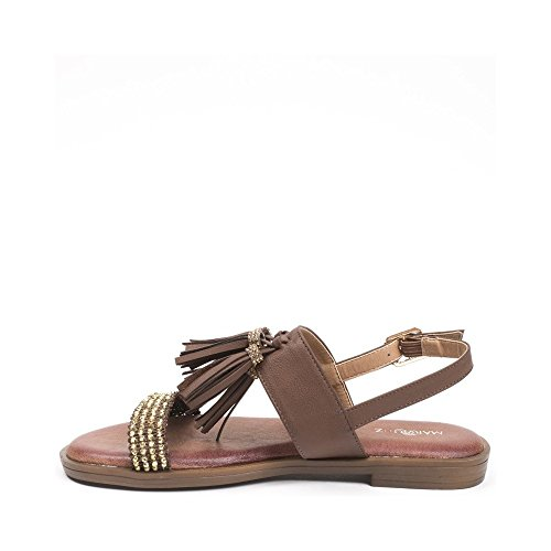 Ideal Shoes, Damen Sandalen Braun