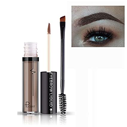 Amazon.com: Professional Makeup Eye Brow Tattoo Cosmetics Long Lasting Pigments Waterproof not Fade Eyebrow Liquid with Brush #2: Beauty