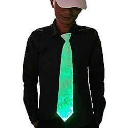 LED Necktie 7 Colors Glow in Dark