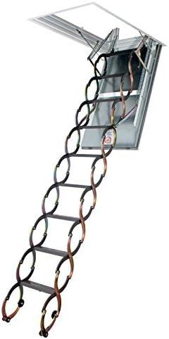 Escalera plegable – Altura bajo techo 3.10 M a 3,20 m: Amazon.es: Bricolaje y herramientas