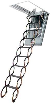 Escalera plegable – Altura bajo techo 2.40 M de 2.50 m: Amazon.es: Bricolaje y herramientas