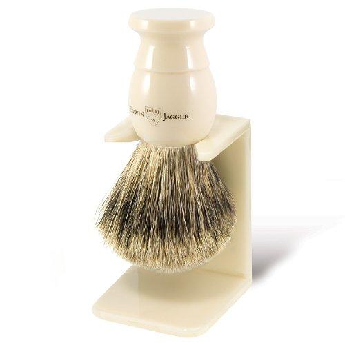 Edwin Jagger Handmade Best Badger Shaving Brush-Med. Ivory & Std