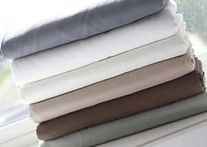 Malouf LINENSPA Wrinkle-Free Lightweight Oversized Microfiber 4-Piece Bed Sheet Set, KING CHOCOLATE