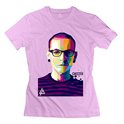 - Popular Linkin Park Chester Women's T-shirt Pink Size S