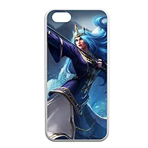 Ashe-002 League of Legends LoL case cover for iPhone 5C - Rubber White