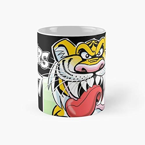 AFL Tigers 2017 - 'We smashed 'em' in black Mug, tigers 2017 premiership poster Mugs, 11 Ounce Mug, Novelty Gift Mug, Tea Cups, Funny Coffee Mug 11oz, Tea -