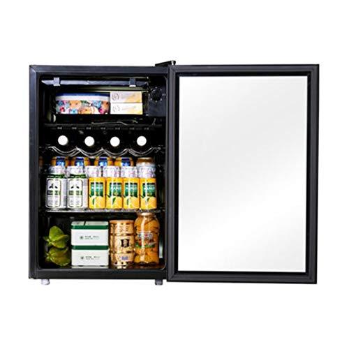Single Door Ice Bar Refrigerator Home Constant Temperature Wine Cabinet Tea Cabinet Living Room Fresh-Keeping Refrigerator (Color : Black, Size : 44.54767.6cm)