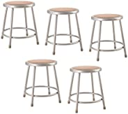"""(5 Pack) National Public Seating 18"""" Heavy Duty Steel Stool,"""