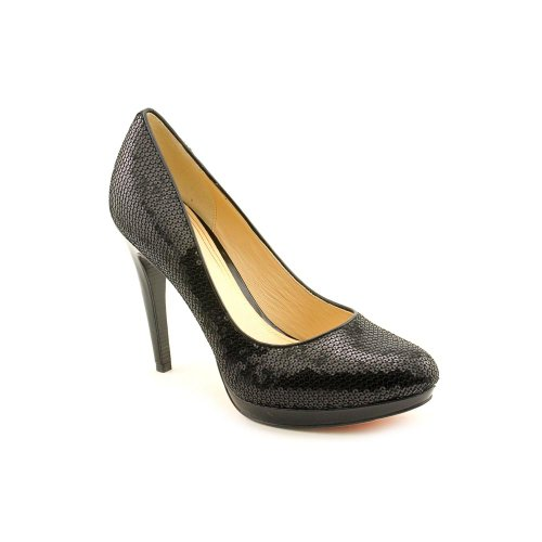 Cole Haan Womens Chelsea High Pump Black Paillettes Pump 10 B - Medium