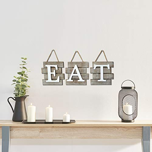 """Barnyard Designs Eat Sign Wall Decor for Kitchen and Home, Distressed Natural, Rustic Farmhouse Country Decorative Wall Art 24'' x 8"""" by Barnyard Designs (Image #2)"""