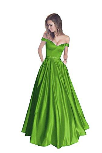 Aurora Boule De Mariée Perles De Femmes Tulle Manches Courtes Robes Cocktail De Bal Vert