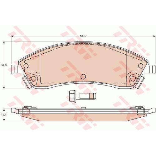 Trw GDB4451 Kit Pastiglie per Freno a Disco Trw KFZ Ausruestung GmbH