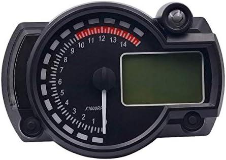 メーター 実用 簡単 車 1000rpmでオートバイのデジタルLCDレベルゲージスピードメーターオドメーターオドメーター、オートバイアクセサリーオートバイアクセサリー川崎 小型サイズ 防水 軽量