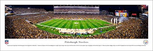 Pittsburgh Steelers Football (Night) - Unframed NFL Poster by Blakeway Panoramas