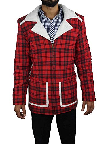 Alamodetrend Ryan Reynolds New Deadpool Shearling Jacket Coat - Halloween Offer (XXL) Red -