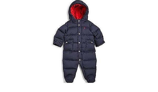 36d76e66f982 Amazon.com  Ralph Lauren Baby Boys Down Snowsuit Aviator Navy Size ...
