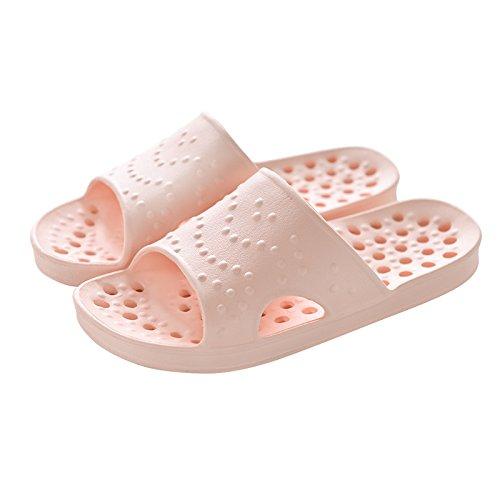 Zapatillas de baño antideslizante para interiores,41 / 42 Verde 37 / 38 Nude