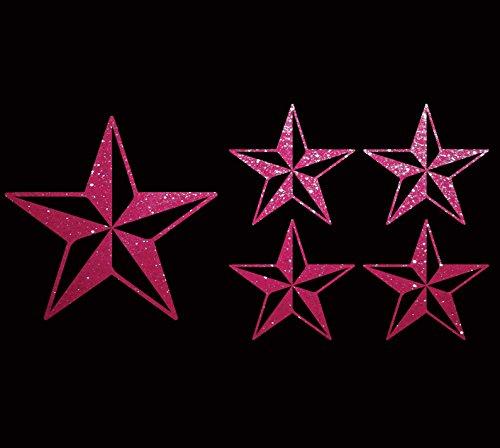 Nautical Star Tattoo Rockabllly Navy Sailor Lot of 6 Car Bumper Stickers Vinyl Wall Decals (4