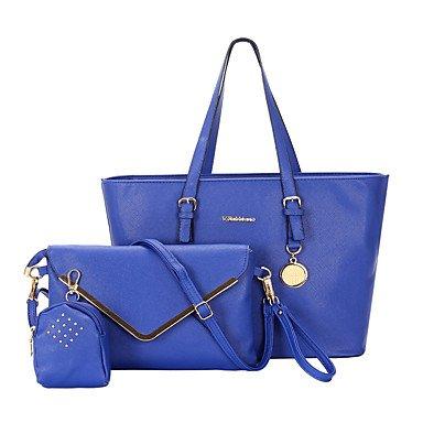 Las mujeres de moda clásica bolsa Crossbody,azul Beige