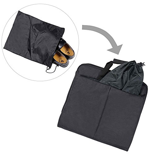 Hynes Eagle 45 inch Portable Garment Bag Hanging Travel Foldable Suit Bag Black by Hynes Eagle (Image #3)