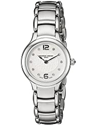 Frederique Constant Womens Junior Mother of Pearl Dial Stainless Steel Swiss Quartz Watch  FC-200WA1ER6B