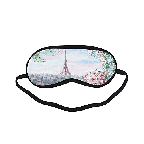 Unique Debora Custom Sleeping Mask Eye Shades for Sleeping for Oil Painting Summer In Paris Eiffel Tower Custom Mask Painting