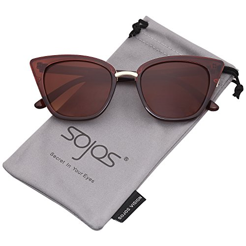 5a2116866f9 SojoS Cat Eye Brand Designer Sunglasses Fashion UV400 Protection Glasses  SJ2052 with Brown Frame Gradient