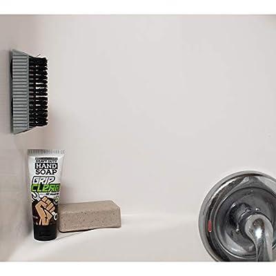 Grip Clean | Heavy Duty Fingernail Brush for Men & Mechanics - MEDIUM Strength Bristle (1pk): Beauty
